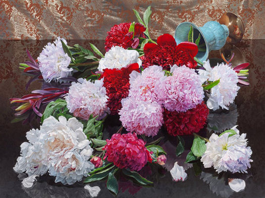 "Eric Wert, ""Peonies,"" 2011, 36"" x 48"", Oil on canvas"